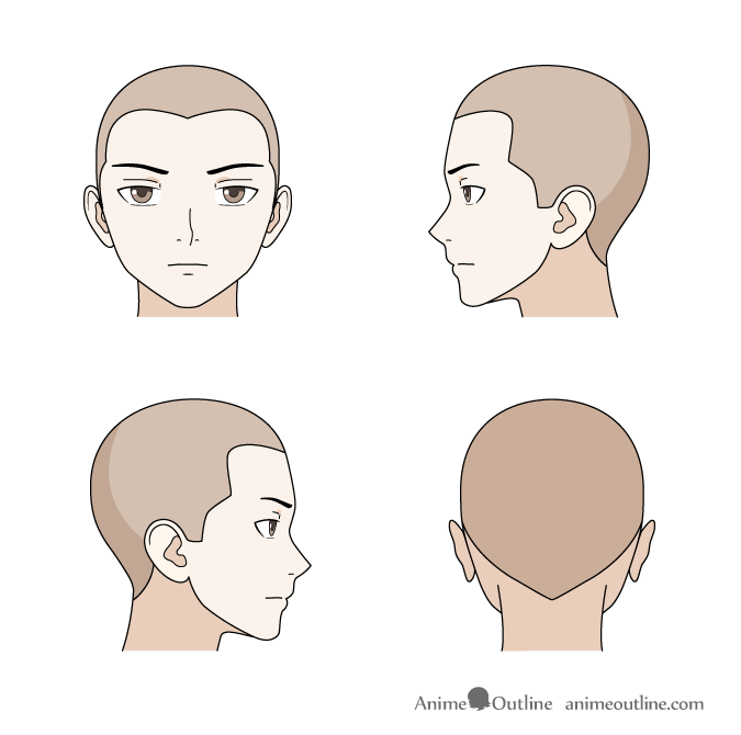 Anime hairline male