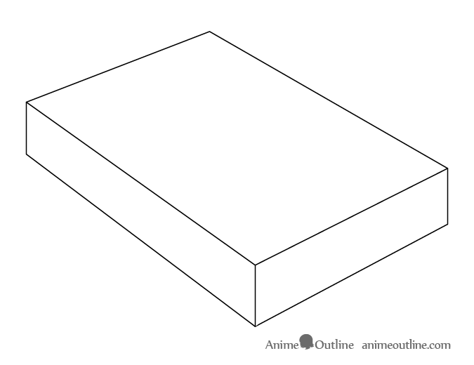 Anime lunch box shape drawing