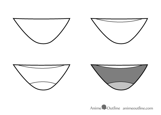 Drawing anime mouth step by step