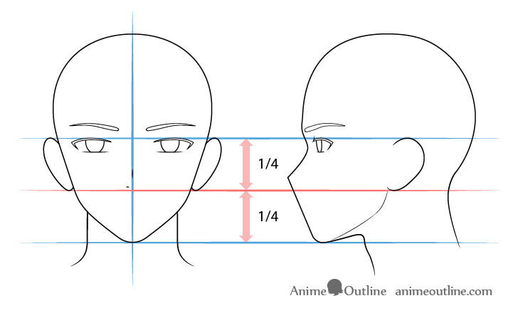 Anime male nose drawing