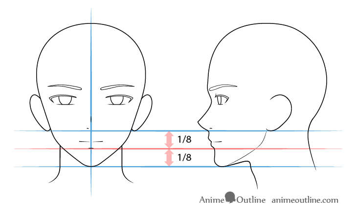 Anime male mouth drawing