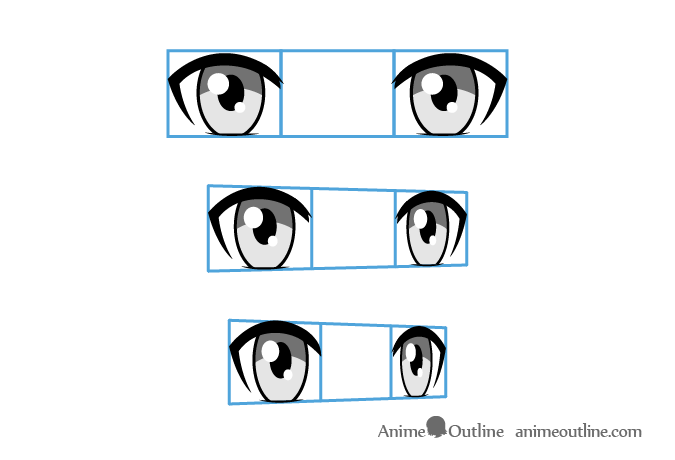 Anime eyes different angles
