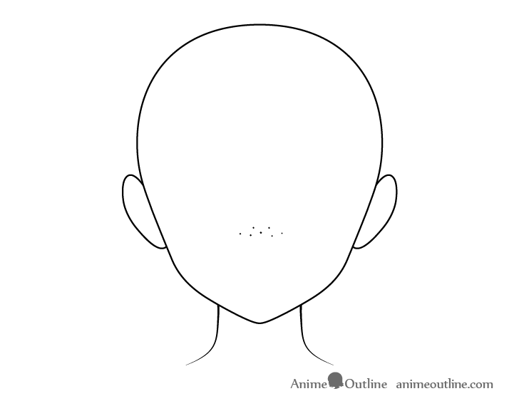 Anime freckles on nose head drawing