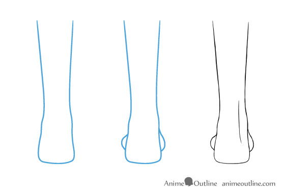 Anime feet drawing back view