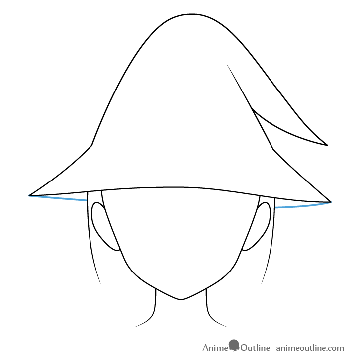Anime wizard hat bottom drawing