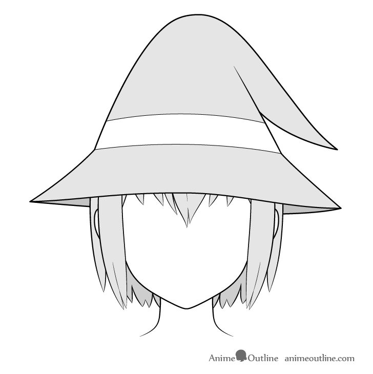 Anime wizard hat drawing