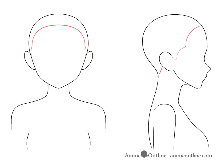 Anime hairline drawing