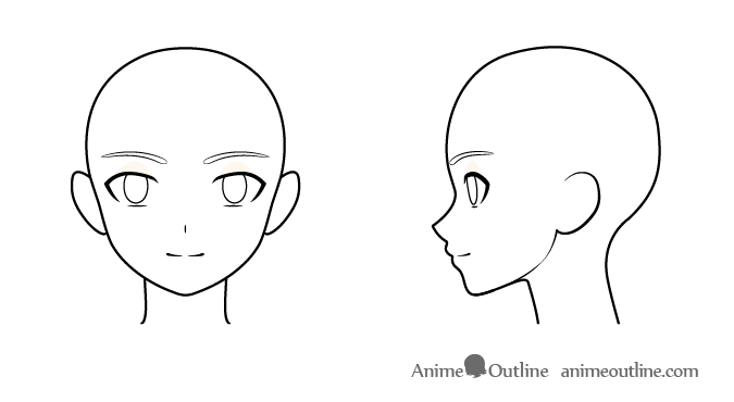 Anime boy face drawing