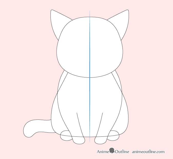Anime cat legs, tail and ears drawing
