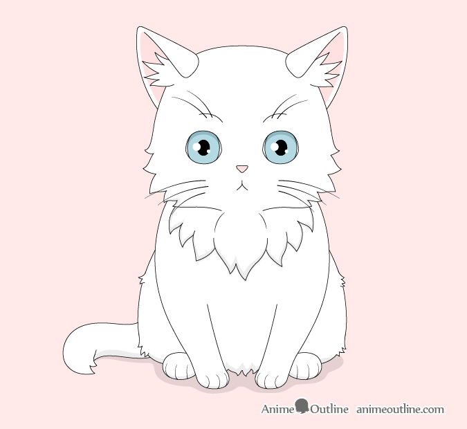 Anime cat drawing