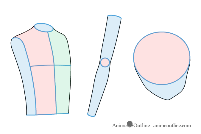 Anime girl body part drawing