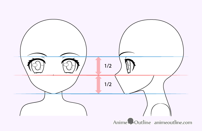 Cute anime girl nose drawing