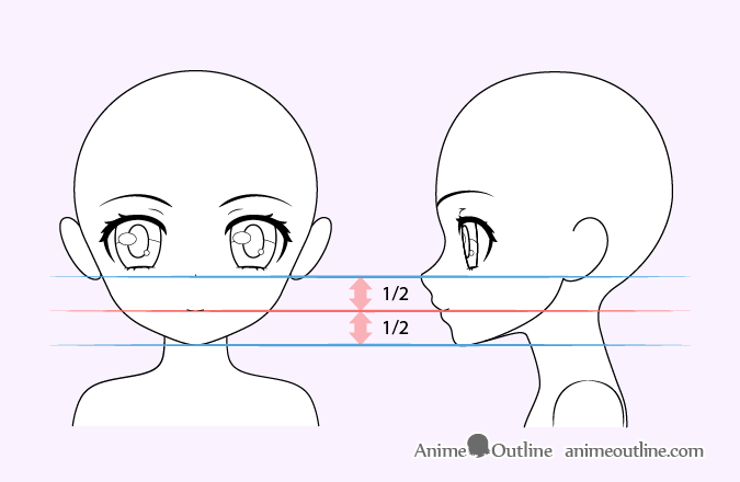Cute anime girl mouth drawing
