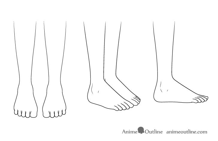 Anime boots feet drawing
