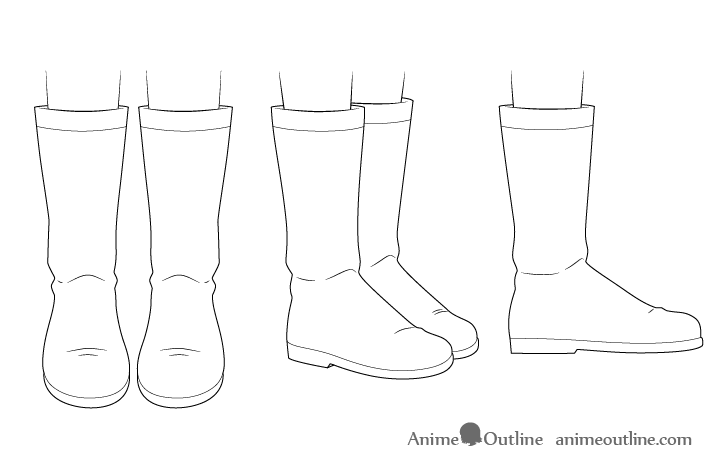 Anime boots drawing