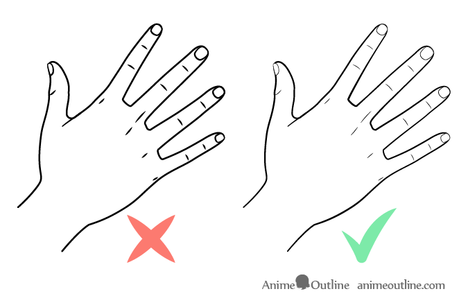 Hand drawing line weight comparison