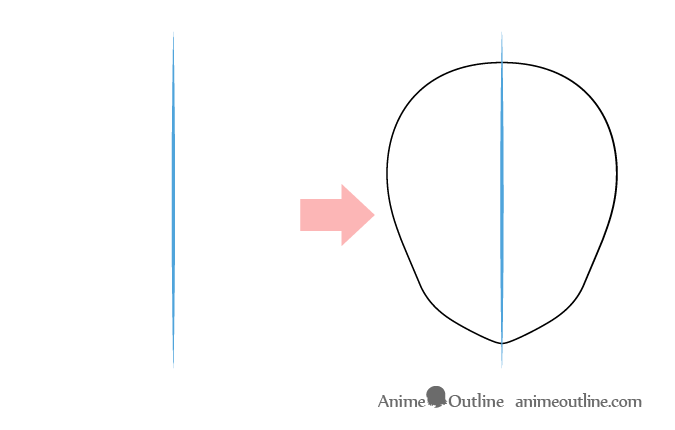 Constructions lines when drawing anime