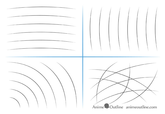 Curved line drawing exercises