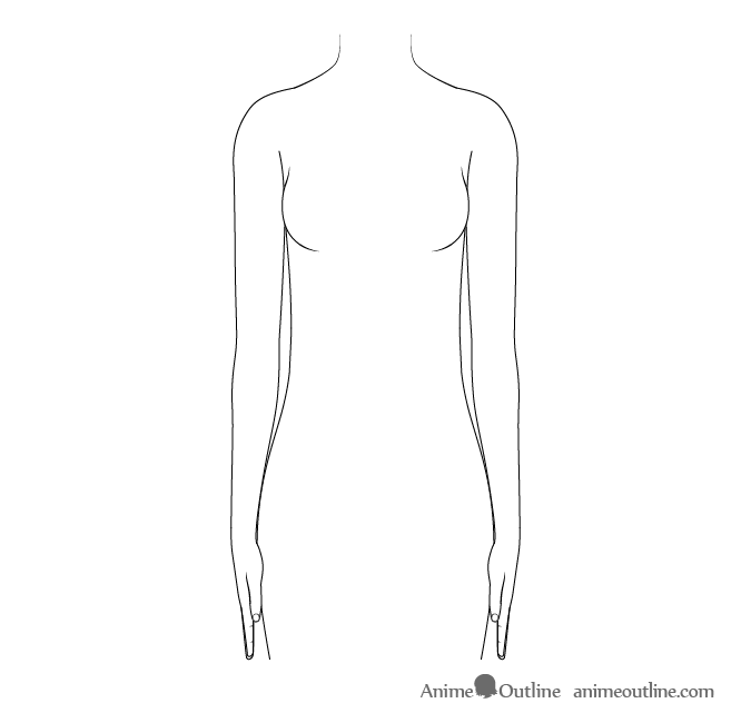 Anime arms to sides drawing