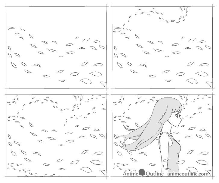 anime wind drawing step by step